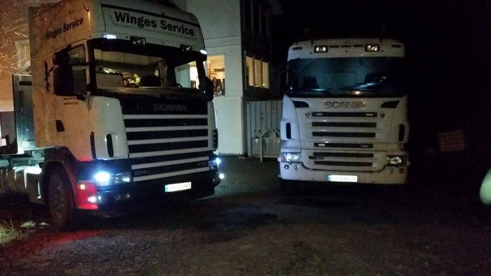 Scania med ei 2 akslet tippkjerre