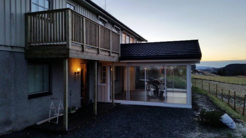 Montering av hagestue og ny lufte balkong på Frosta