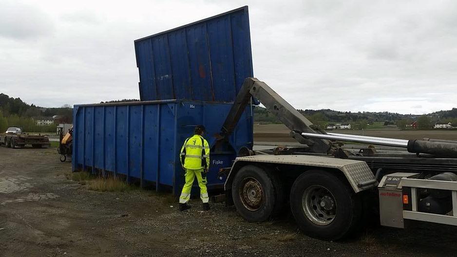 Levering av container