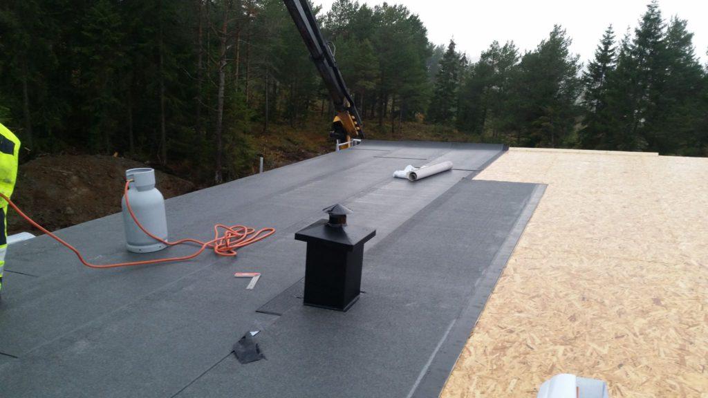 Montering av nytt tak