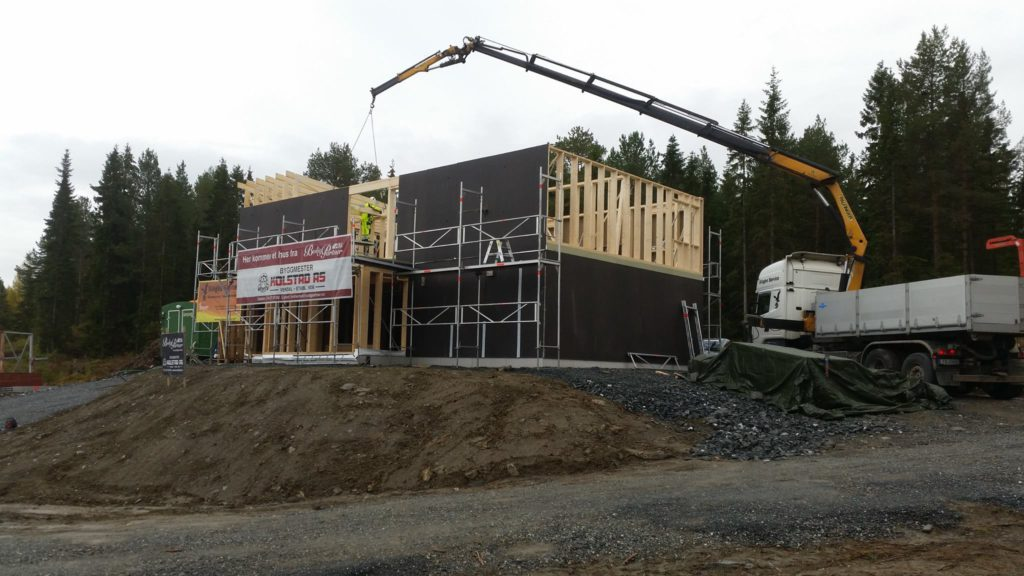 Montering av hus på Ronglan